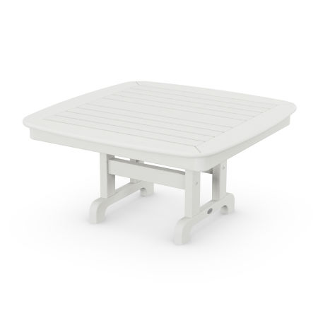 """Nautical 37"""" Conversation Table in Vintage White"""