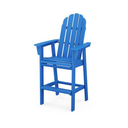 Vineyard Adirondack Bar Chair in Pacific Blue