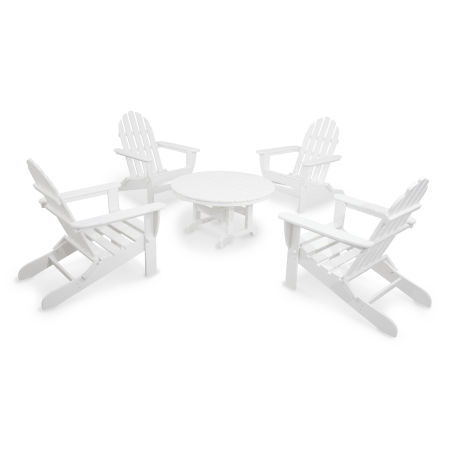 Classics 5-Piece Folding Adirondack Conversation Set