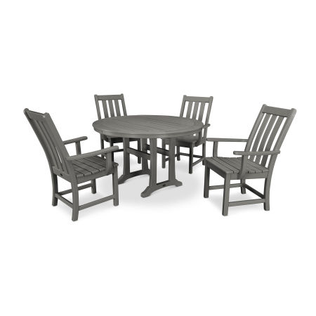 Vineyard 5-Piece Nautical Trestle Dining Set