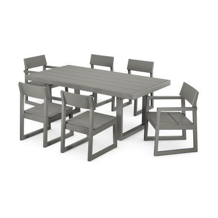 EDGE 7-Piece Dining Set in Slate Grey
