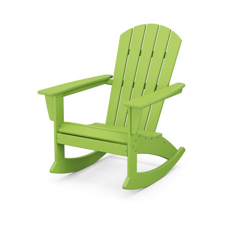 Nautical Adirondack Rocking Chair in Lime