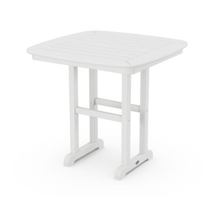 """Nautical 31"""" Dining Table in White"""