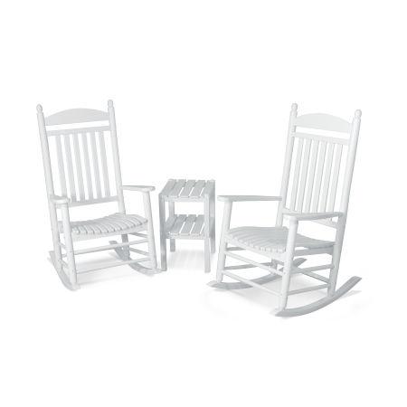 Jefferson 3-Piece Rocking Chair Set in White
