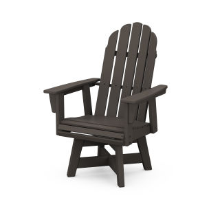 Vineyard Curveback Adirondack Swivel Dining Chair in Vintage Finish