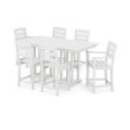 Lakeside 7-Piece Counter Set in White