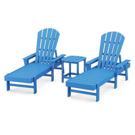 South Beach Chaise 3-Piece Set in Pacific Blue