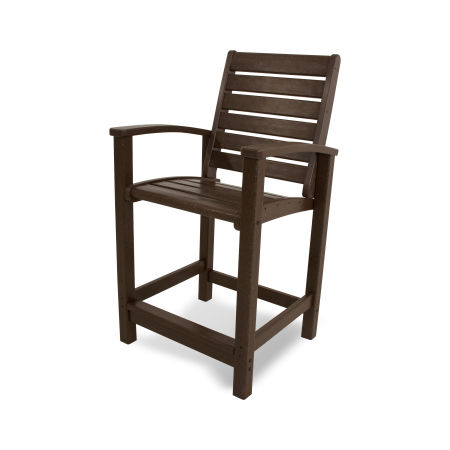 Signature Counter Chair in Mahogany