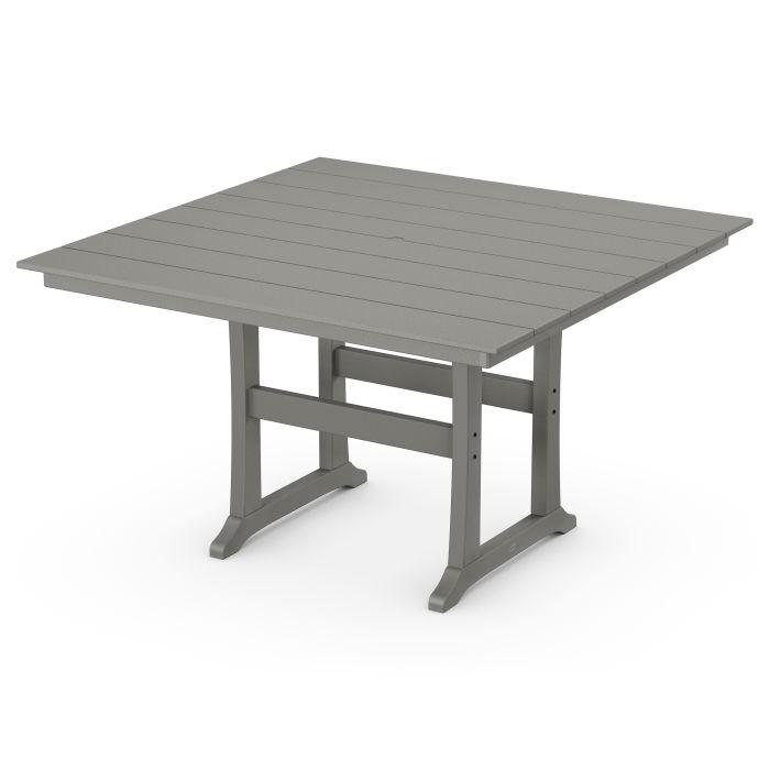 """Farmhouse Trestle 59"""" Counter Table"""