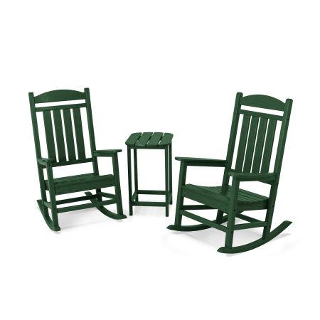 Presidential Rocker 3-Piece Set in Green