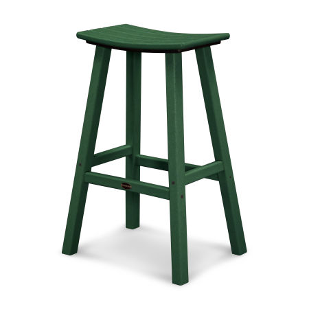 """Traditional 30"""" Saddle Bar Stool in Green"""