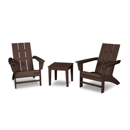 Modern Adirondack 3-Piece Set in Mahogany
