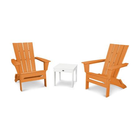 Quattro 3-Piece Adirondack Set in Tangerine