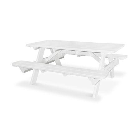 "Park 72"" Picnic Table in White"