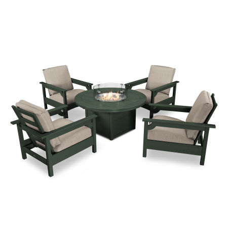 Club 5-Piece Chat Set in Green / Cast Ash