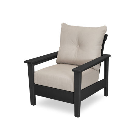 Prescott Deep Seating Chair in Black / Essential Sand