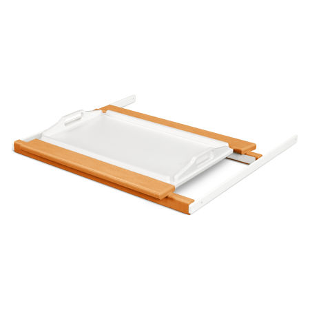 Tray Table in Tangerine / White