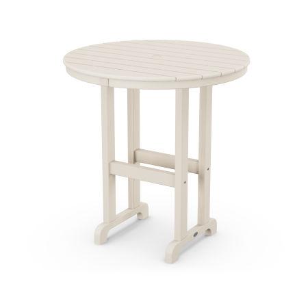 """La Casa Café Round 36"""" Counter Table in Sand"""