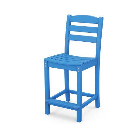 La Casa Café Counter Side Chair in Pacific Blue