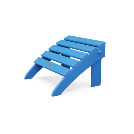 Classic Adirondack Folding Ottoman in Pacific Blue