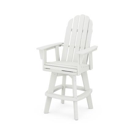 Vineyard Adirondack Swivel Bar Chair in Vintage White