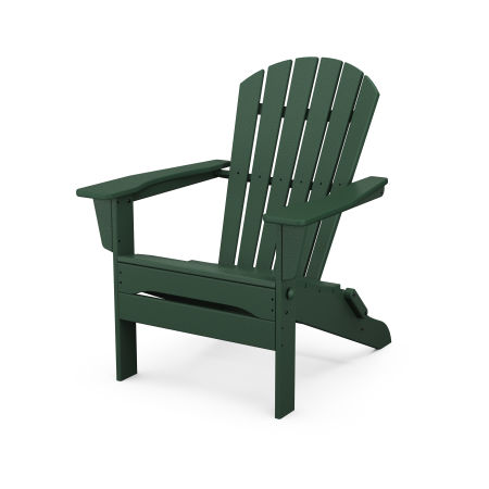 South Beach Folding Adirondack Chair in Green