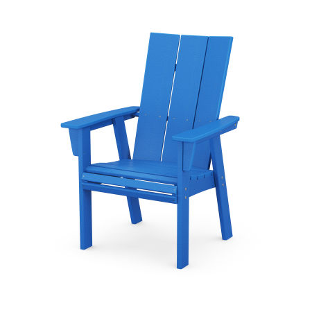 Modern Adirondack Dining Chair in Pacific Blue