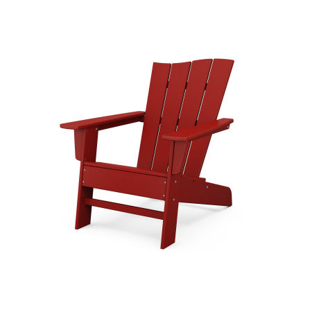 The Wave Chair Right in Crimson Red