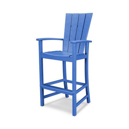 Quattro Adirondack Bar Chair in Pacific Blue