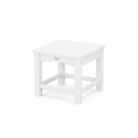 "Club 18"" Side Table in White"