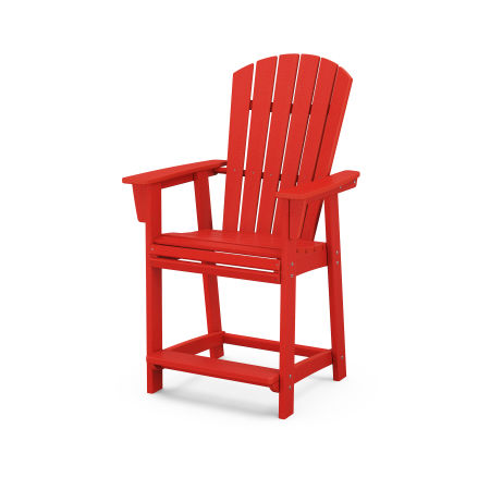 Nautical Adirondack Counter Chair in Sunset Red