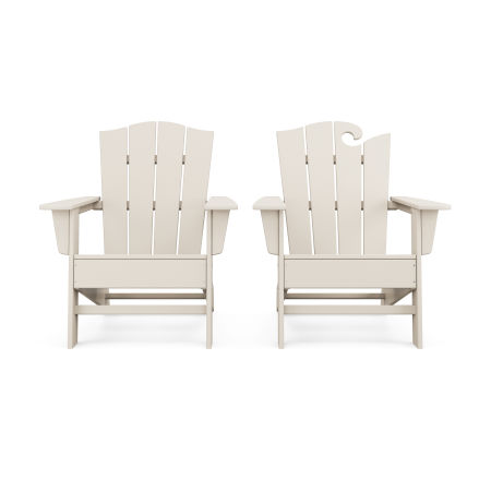Wave 2-Piece Adirondack Chair Set with The Crest Chair in Sand