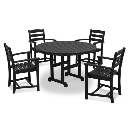 La Casa Café 5-Piece Dining Set in Black