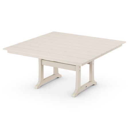 "59"" Square Dining Table in Sand"