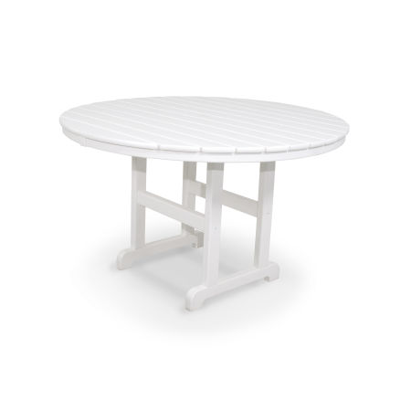 "Classics Round 48"" Dining Table in White"