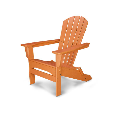 Palm Coast Folding Adirondack in Tangerine