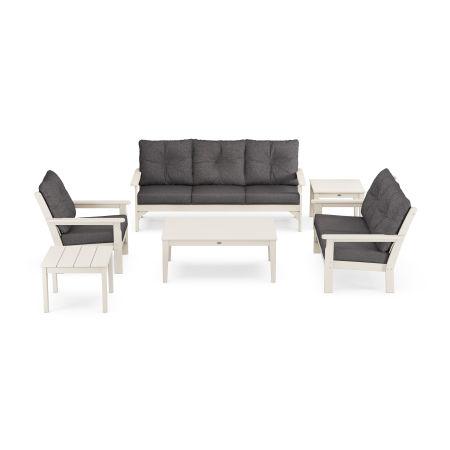 Vineyard 6-Piece Deep Seating Set in Sand / Ash Charcoal