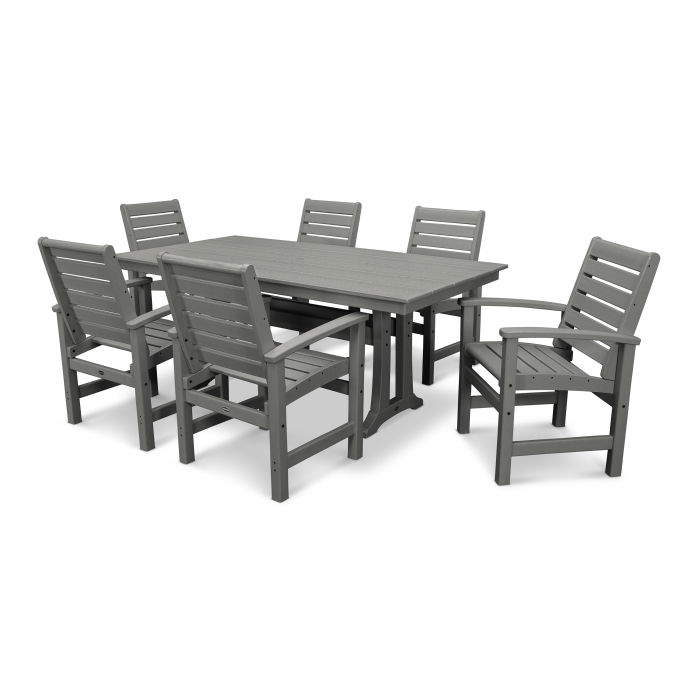 Signature 7-Piece Farmhouse Trestle Dining Set