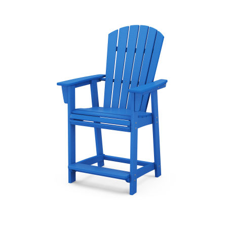 Nautical Adirondack Counter Chair in Pacific Blue