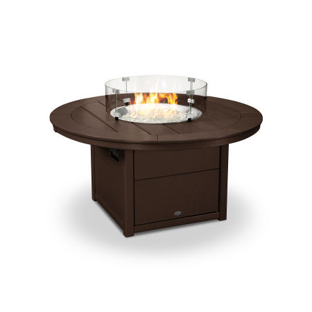 "Round 48"" Fire Pit Table in Mahogany"