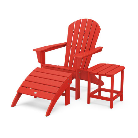 South Beach Adirondack 3-Piece Set in Sunset Red