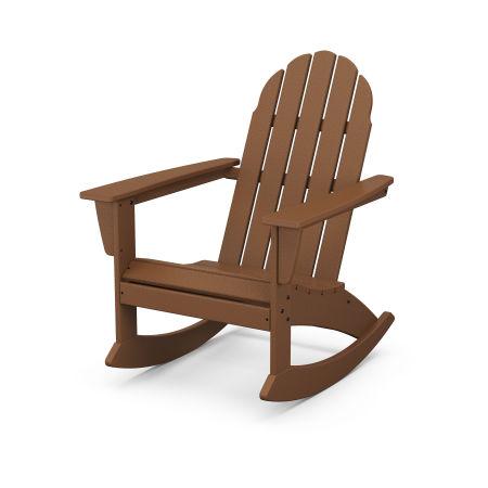 Vineyard Adirondack Rocking Chair in Teak