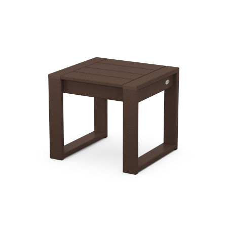 EDGE End Table in Mahogany