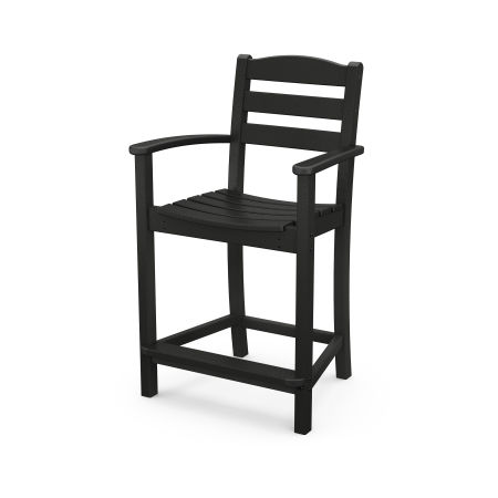 La Casa Café Counter Arm Chair in Black
