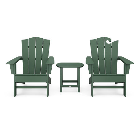 Wave Collection 3-Piece Set in Green