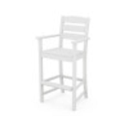 Lakeside Bar Arm Chair in White