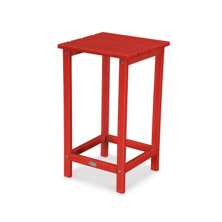 "Long Island 26"" Counter Side Table in Sunset Red"
