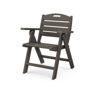 Nautical Lowback Chair in Vintage Finish