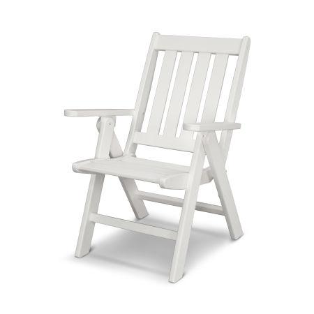 Vineyard Folding Dining Chair in White