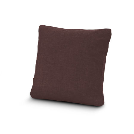 """20"""" Outdoor Throw Pillow by POLYWOOD® in Cast Currant"""